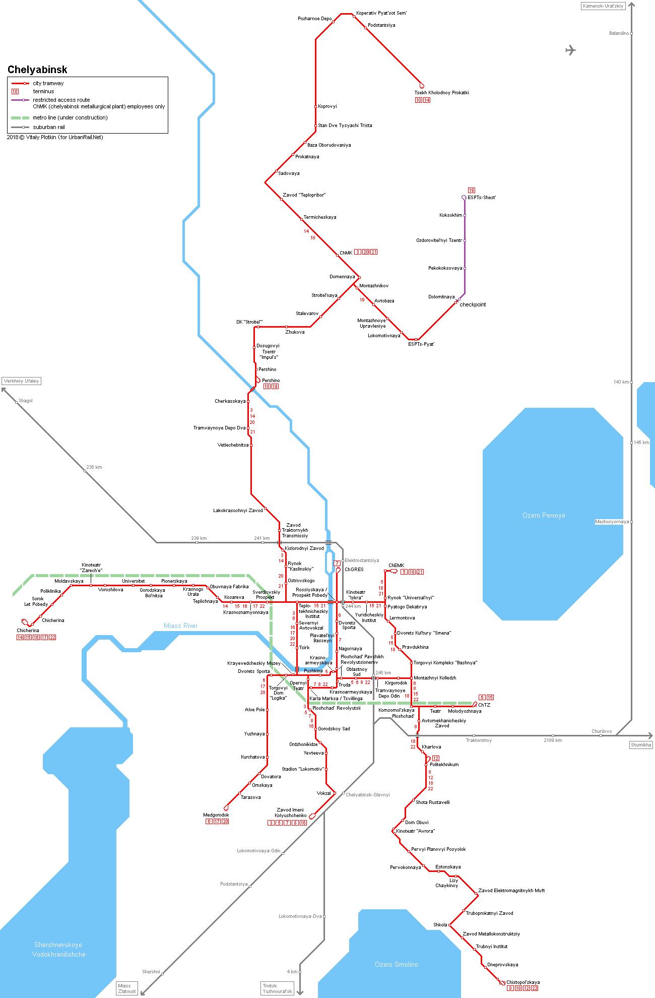 UrbanRailNet Asia Russia Chelyabinsk Metro