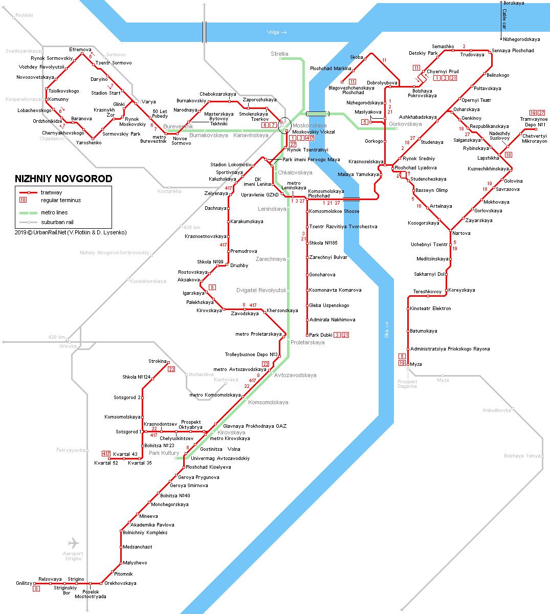 Novgorod Russia Map.Urbanrail Net Europe Russia Nizhniy Novgorod Tram