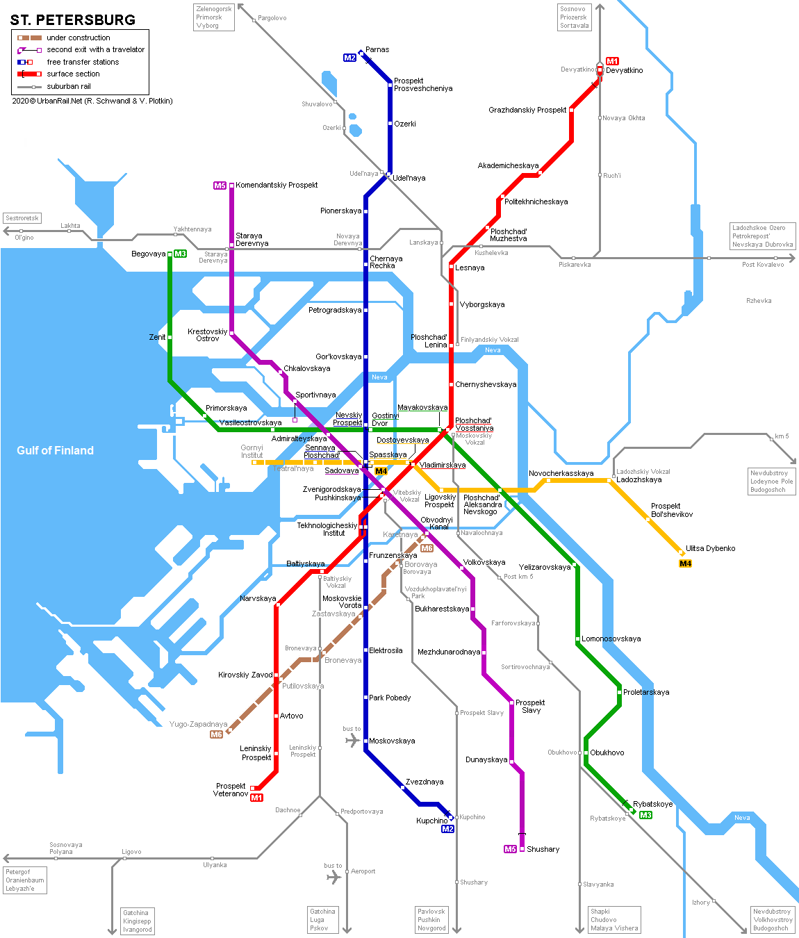 Saint Petersburg Russia Subway Map.Urbanrail Net Europe Russia St Petersburg Metro
