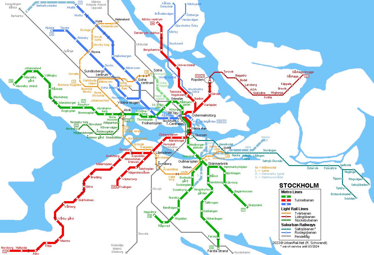 Sofia Subway Map.Urbanrail Net Europe Sweden Stockholm Tunnelbana