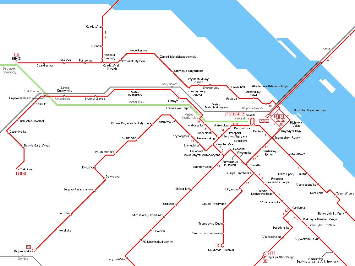 UrbanRailNet Europe Ukraine Dnepropetrovsk Tram