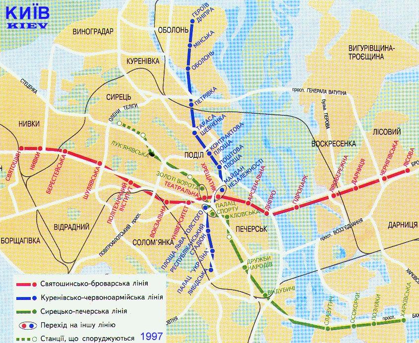 Urban plan Kiev Metro CDR
