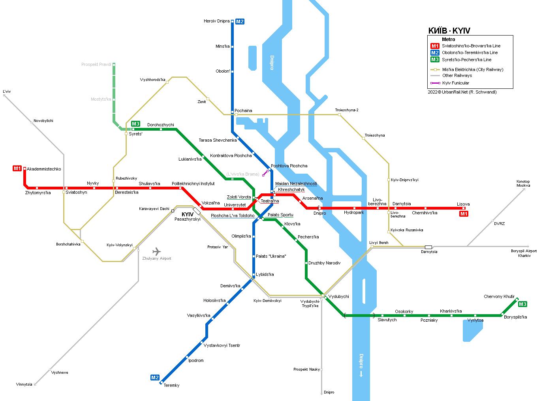 Urbanrail Net Europe Ukraine Kyiv